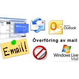 Flytt av mail och adressbok