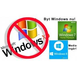 Ny Windows, Installation och Flytt av data