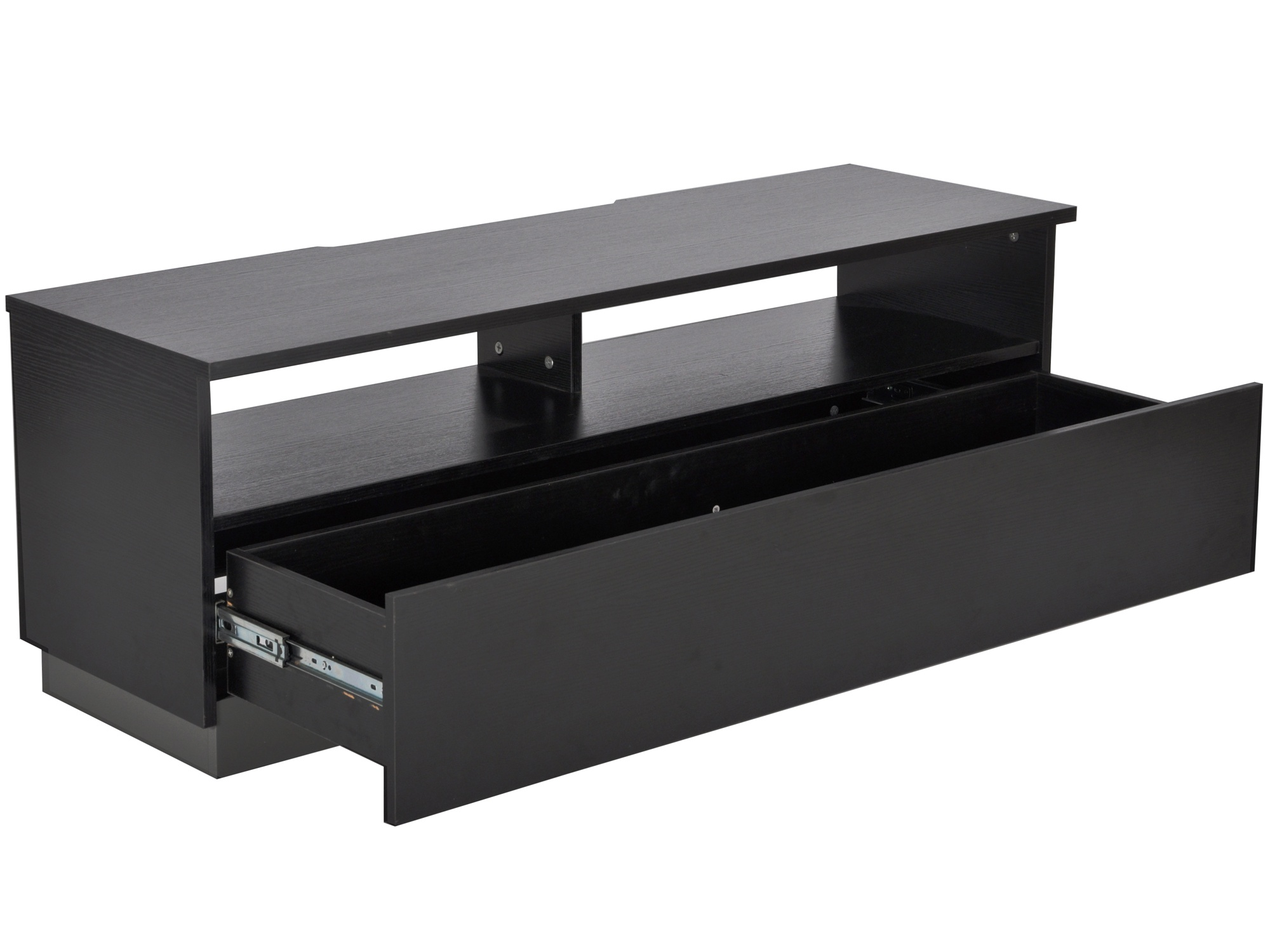 Decibel Mediabänk 125 SVART med Sockel, Glasfront, Låda Fri Frakt! EDCON SE Webshop