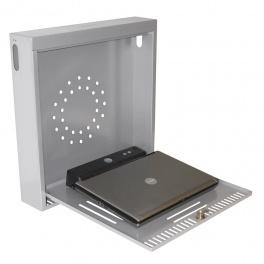 Safety Vertikalbox inkl. lås. Silver