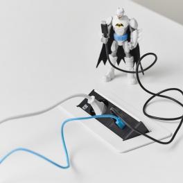 Axessline QuickBox - 1 El, 2 USB Laddare, Vit