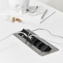 Axessline QuickBox - 2 El 2, USB Laddare, 2 Data. Stål