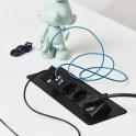 Axessline QuickBox - 3 El 2, 2 USB Laddare. Svart
