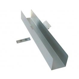 Kabeldike SLADDEN SILVER. Plåt. Vinklingsbar. 78 cm.